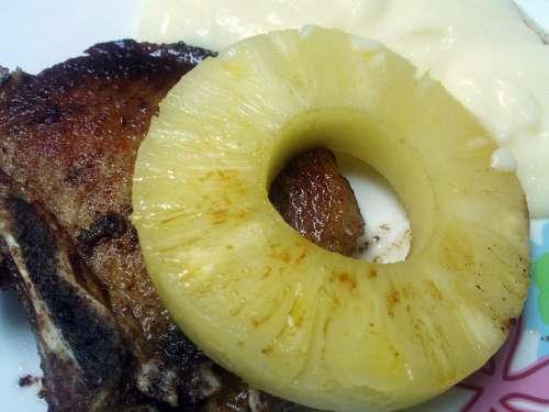 Pork Chop Pork Pineapple Tropical Pork Chop Power