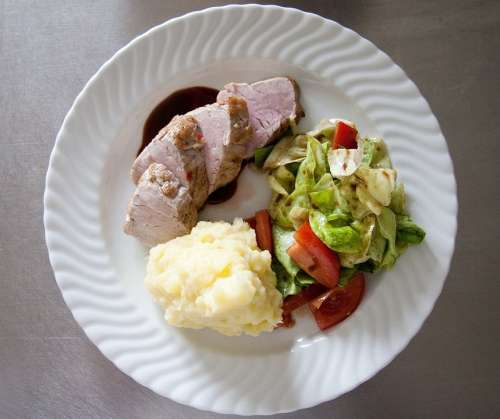 Pork Tenderloin Food Court Mashed Potatoes