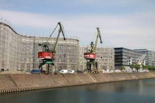 Port Cranes Harbour Cranes Duisburg Germany