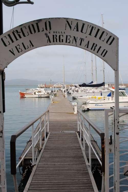 Port Bootssteeg Italy Tuscany Ships Boats