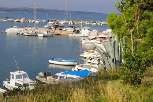 Port Marina Ship Sea Povljana Croatia