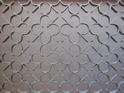 Port Grille Iron Detail Pattern Metal Close-Up