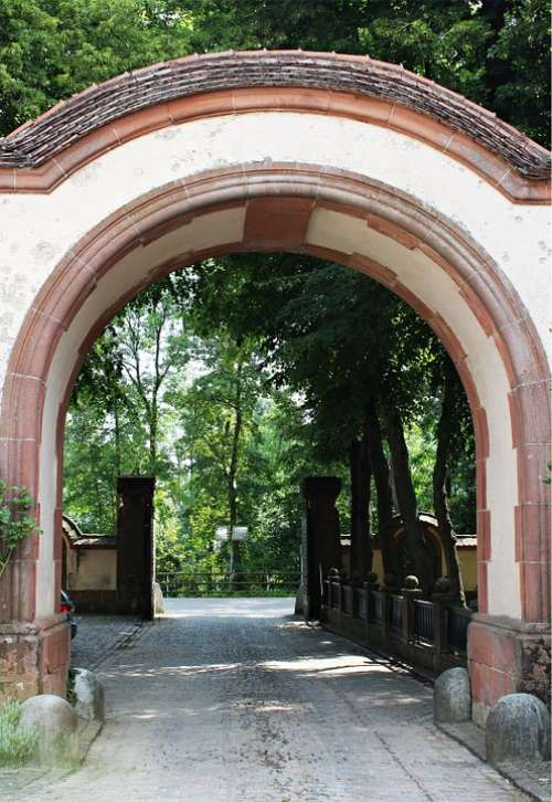 Portal Antique Old Stately Passage Goal Archway