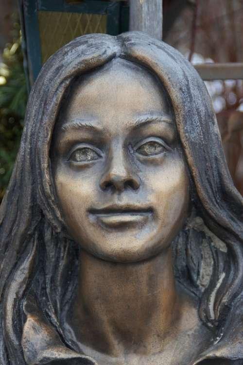 Portrait Sculpture Girl Person Young Woman Woman