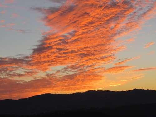Portugal Terras De Basto Sol Sunset Color Light