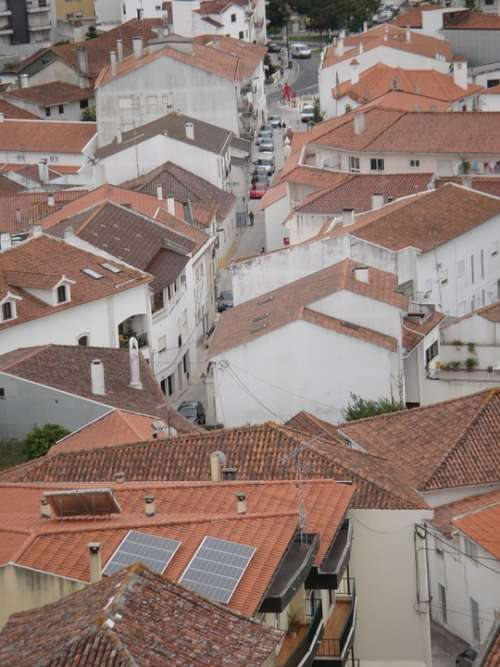 Portugal Roofs Houses