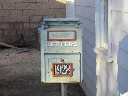 Postal Box Antique Old Mail Box