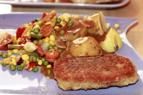 Potato Sauce Vegetables Fried Fish Nutrition