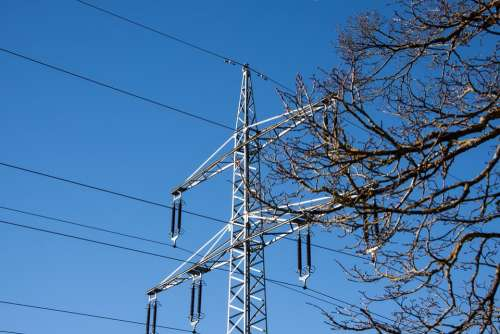 Power Line Power Lines Pylon Strommast Current