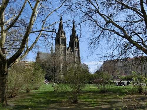 Prague Church Spring Park