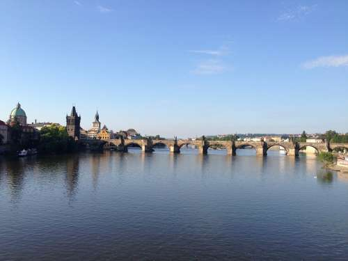 Prague Czech Republic Capital City Bridge