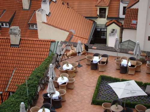 Prague Roof Restaurant Czech City View