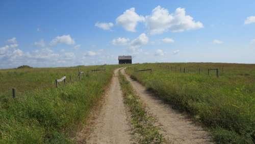 Prairie Shed Rural Old Landscape Building Nature