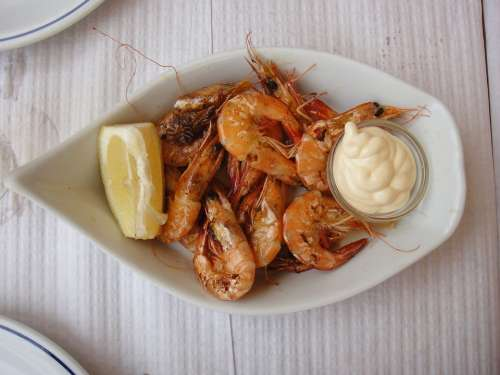 Prawns Appetizer Food