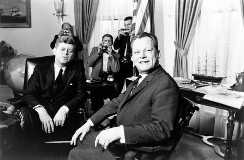 President John Kennedy German Chancellor Willy Brandt