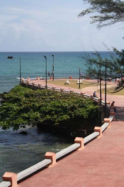 Puerto Plata Beach Costa Sunny Day Landscape