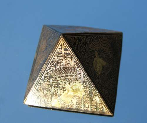 Pyramid Model Egyptian Decorated Travel Africa