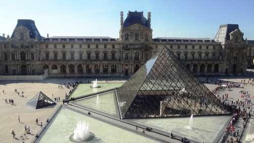 Pyramid Glass Louvre Museum Paris