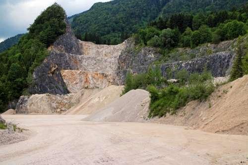 Quarry Quarrying Stones Crash Overburden Removal