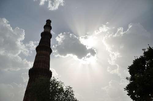 Qutub Minar New Delhi Monument Tower Minaret India