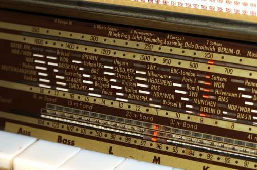 Radio Retro World Receiver Keys Nostalgia