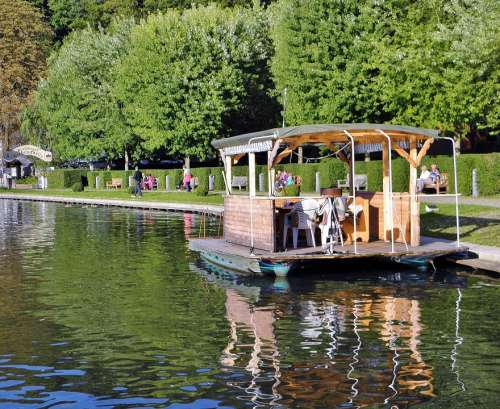 Raft Ship Water Fun Flakensee Summer