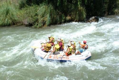 Rafting Boat Danger Decrease Fear River Water