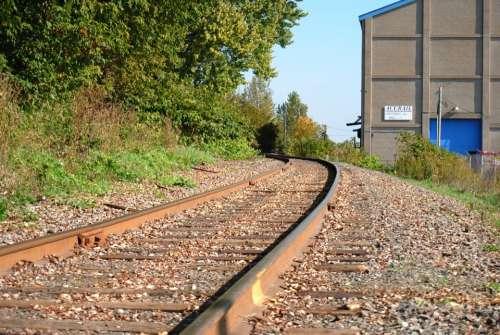 Rail Track Way Transportation Train Wagon Iron