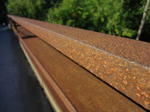 Railing Bridge Rust Rusty Train Railway
