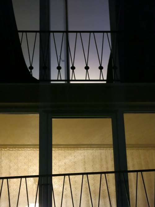 Railing Light Contrast Fifties Tenement House