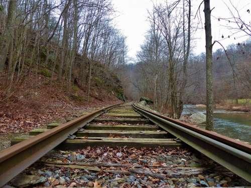 Railroad Rail Train Car Box Tracks Pennsylvania
