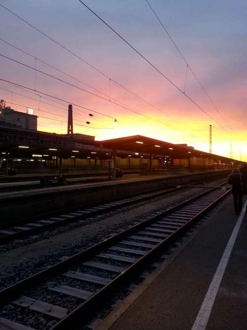 Rails Gleise Train Augsburg Railway Station