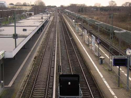Rails Train Gleise Railway Tracks Railway Station