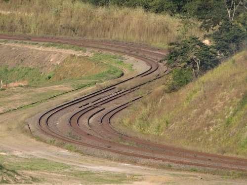 Rails Train Transport Estrada De Ferro Itabira