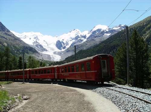 Railway Mountains Landscape