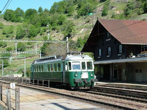 Railway Railcar Historically Switzerland Bls