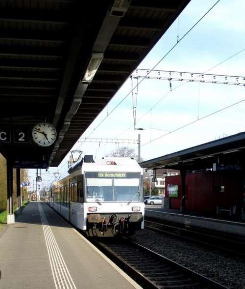 Railway Station Train Regional Train Exit Platform