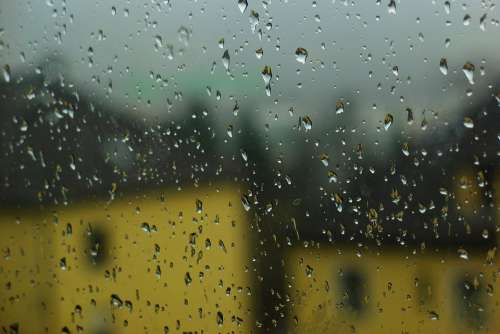 Rain Raindrop Drip Water Wet Droplets