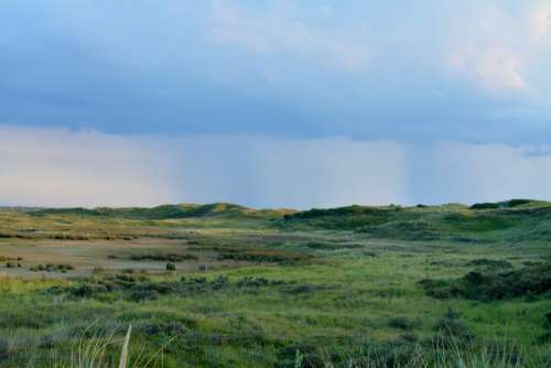 Rain Dunes Clouds