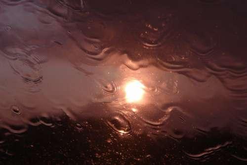 Rain Sun Weather Water Drip Reflection
