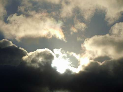 Rain Clouds Sunbeam Cloud Image