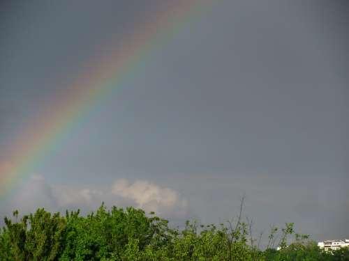 Rainbow Sky Nature Elements Landscape Seasons