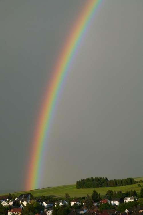 Rainbow Spectrum Farbenspiel Weather Phenomenon