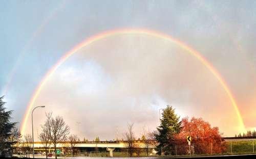 Rainbow Sunset Bellevue Washington