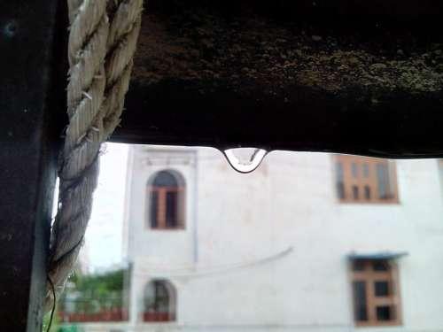 Raindrop Drop After Rain Water Wet Close Weather