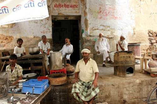 Rajasthan Café Scene Man Group