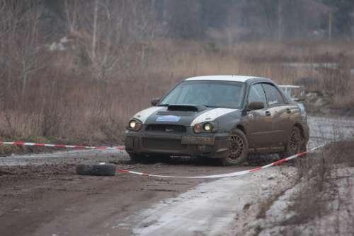 Rally Racing Auto Road Car Machine Transport