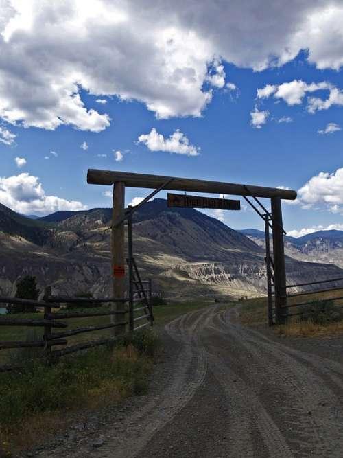 Ranch Gate Indian Reservation Fraser Plateau