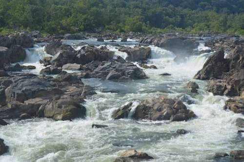 Rapids Waterfalls Falls River Water Violent