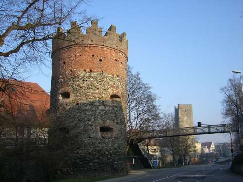 Ravensburg Downtown Middle Ages City Wall